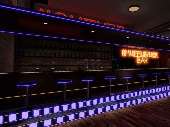 The Shufflepuck Bar【おしゃれバーとゲーム部屋のVRChatワールド】